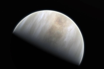 This artistic impression depicts Venus. Astronomers at MIT, Cardiff University, and elsewhere may have observed signs of life in the atmosphere of Venus. — courtesy ESO (European Space Organization)/M. Kornmesser & NASA/JPL/Caltech