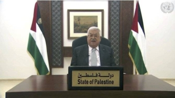 """Palestinian President Mahmoud Abbas highlighted the suffering of his people and the misery they experience every day """"while the world stands by watching"""" as he addressed the United Nations General Assembly on Friday via a pre-recorded video. — Courtesy photo"""