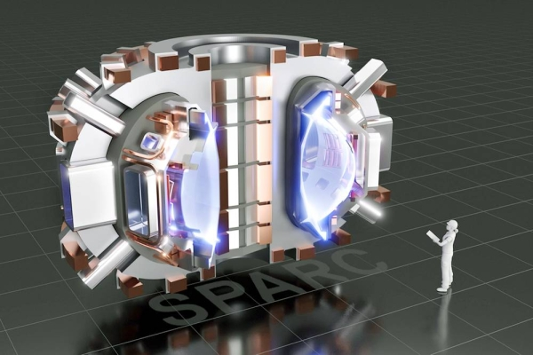 This image shows a cutaway rendering of SPARC, a compact, high-field, DT burning tokamak, currently under design by a team from the Massachusetts Institute of Technology and Commonwealth Fusion Systems. Its mission is to create and confine a plasma that produces net fusion energy. — courtesy CFS/MIT-PSFC — CAD Rendering by T. Henderson