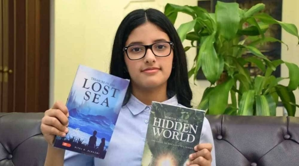 Ritaj Al-Hazmi, aged 11, is the youngest Saudi novelist who has been nominated to enter the Guinness Book of World Records.