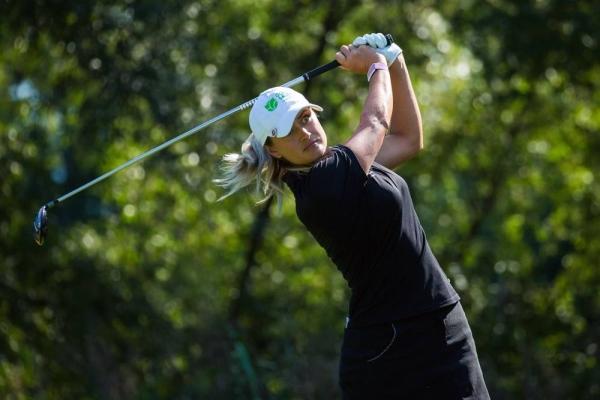Diksha Dagar of India during a practice round of Ladies European Tour 2020. Investec South African Women's Open. Westlake Golf Club, Westlake, Cape Town, South Africa. — courtesy Tristan Jones