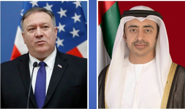 Foreign Minister of the United Arab Emirates Sheikh Abdullah bin Zayed Al Nahyan and the US Secretary of State Michael Pompeo reiterated on Tuesday their commitment to further develop bilateral ties and solidify the close partnership between the two countries through a new strategic dialogue initiative. — WAM