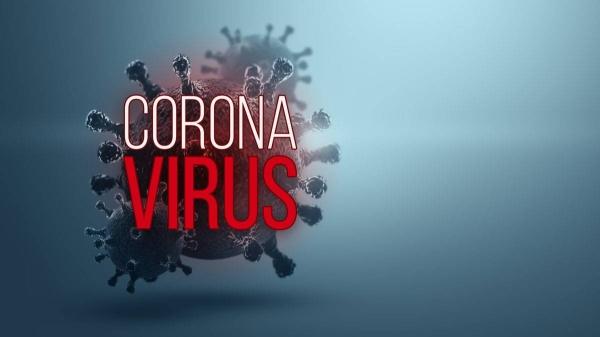 The inscription coronavirus on the background of the image of the virus. — Courtesy photo