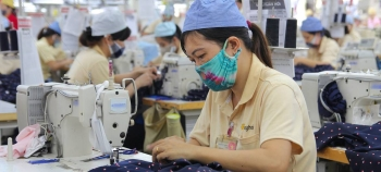 Women at work in a garment factory in Hai Phong, Vietnam, in this file picture. — Courtesy photo