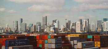 Shipping containers are seen at a port in Miami, the United States, in this file picture. — Courtesy photo