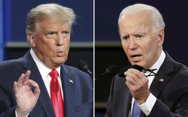 S President Trump and former Vice President Joe Biden delivered starkly divergent closing arguments to the country in the final presidential debate in Nashville, Tennessee on Thursday. — Courtesy photo