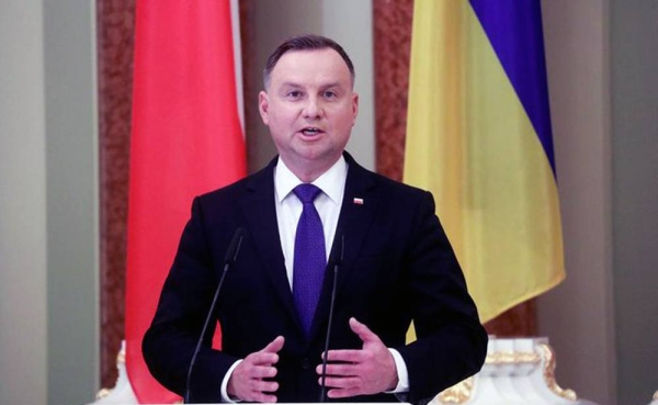 Polish President Andrzej Duda has tested positive for coronavirus but is feeling good.