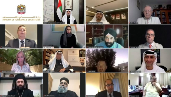 Sheikh Nahyan Bin Mubarak Al Nahyan, minister of tolerance and coexistence, affirmed that United Arab Emirates declares its enthusiastic support for the values and principles called for by the declaration of the seventy-fifth anniversary of founding the United Nations, which focuses on the transformation from the realm of nationalism, conflicts and injustice to a multi-national culture, and peace and safety for the interest of all mankind.