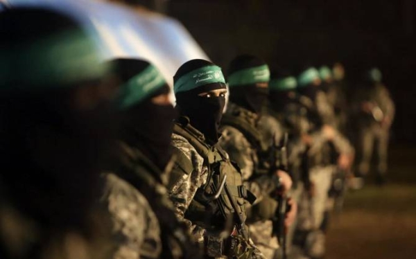 File Photo of Palestinian members of the Ezzedine al-Qassam Brigades, the armed wing of the Hamas movement, take part in a gathering on January 31, 2016. — AFP