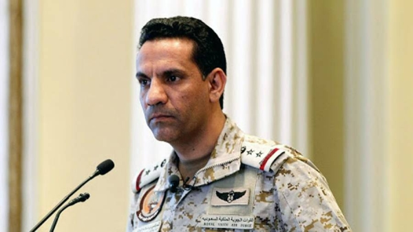 Arab Coalition official spokesman Col. Turki Al-Maliki.
