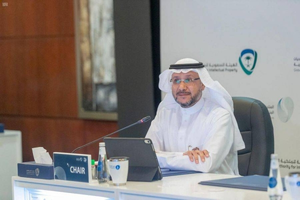 Saudi Arabia's Commerce Minister Majid Al-Qasabi highlighted the effects of the coronavirus pandemic and the challenges it posed to intellectual property during the global intellectual property challenges forum on Monday. — SPA photos