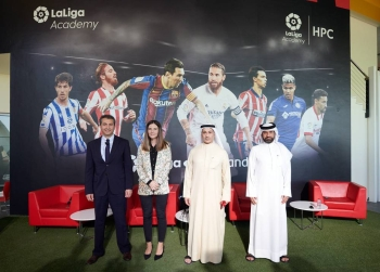 The Football Center was launched Monday at Dubai Sports City.