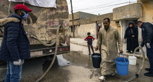 The UN Children's Fund, UNICEF has continued to delivered water to conflict-affected areas of Syria during the pandemic. — courtesy UNICEF/Delil Souleiman