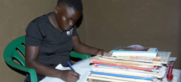 A teenage student studies at home during the COVID-19 lockdown in Uganda in this file picture. — Courtesy photos