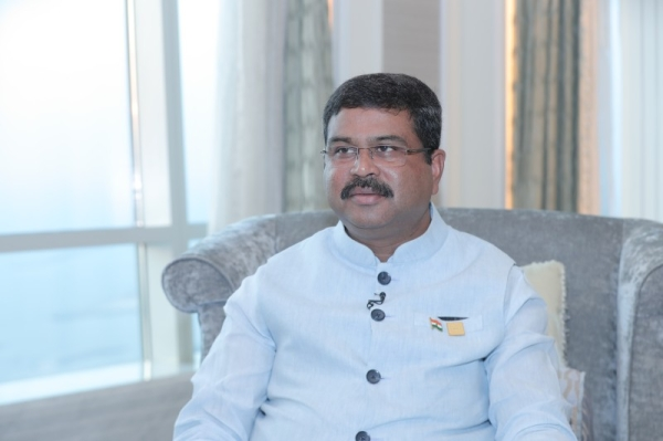 India's Minister for Petroleum and Natural Gas Dharmendra Pradhan has invited the global energy sector and industry experts to become partners in his country's shared prosperity by enhancing India's production of all forms of energy. — WAM photo