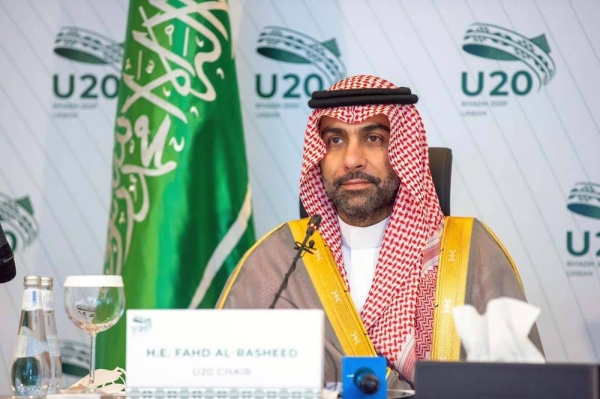 U20 Chair Fahd Al-Rasheed, president of the Royal Commission for Riyadh City.
