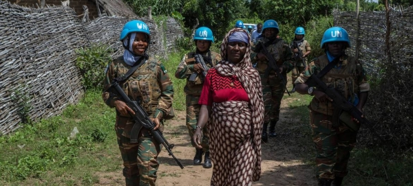 Zambian women peacekeepers patrol in the northeastern Central African Republic as part of the UN mission in the country, MINUSCA. — Courtesy photo