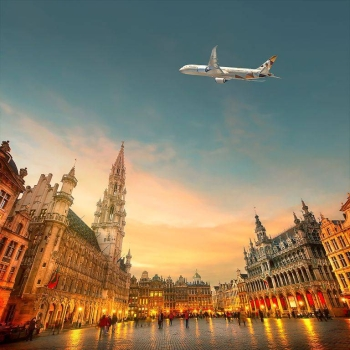 Etihad Airways, the national airline of the UAE, is today celebrating the 15th anniversary of its first service between Abu Dhabi and Brussels. — Courtesy photo