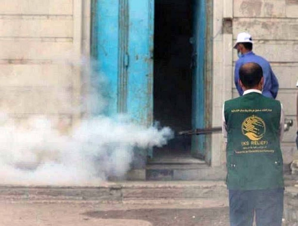 WHO, in partnership with KSrelief, conducted in Aden area-wise fog spraying and launched a health awareness campaign to curb dengue fever.