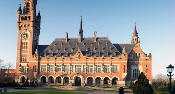 An outside view of the Peace Palace in The Hague (Netherlands), which has been the seat of the International Court of Justice since 1946. — courtesy UN Photo/ICJ-CIJ