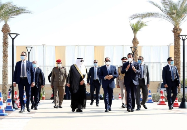 Egyptian President Abdel Fattah El-Sisi inaugurated King Salman International University (KSIU) here Saturday, in the presence of Prince Fahd Bin Sultan, governor of Tabuk Region. — SPA photo