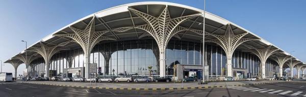 A panoramic view of Prince Mohammad Bin Abdulaziz Intl. Airport in Madinah.
