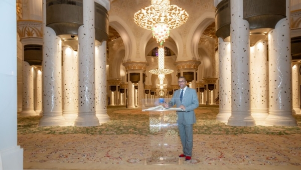 British Minister of State for the Middle East and North Africa James Cleverly visited the Sheikh Zayed Grand Mosque here during his official visit to the United Arab Emirates. — WAM photos