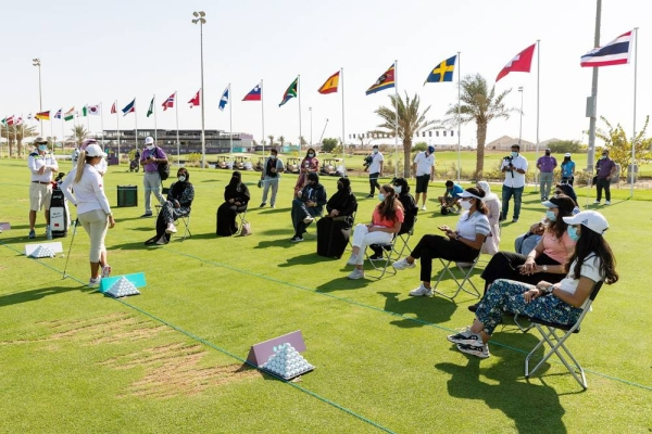 Golf Saudi CEO Majed Al Sorour (second right) is behind the scheme