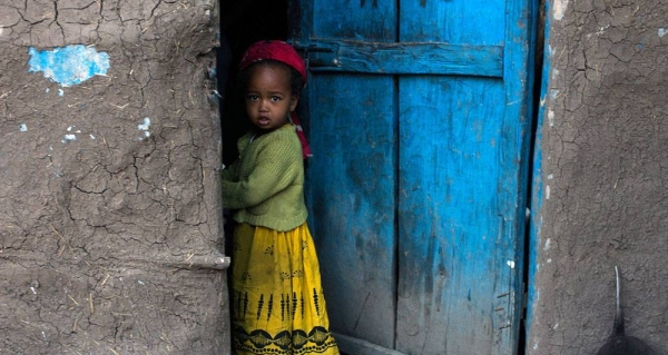 A girl stands outside her home in the Tigray Region, Ethiopia. — courtesy UNICEF/Tanya Bindra