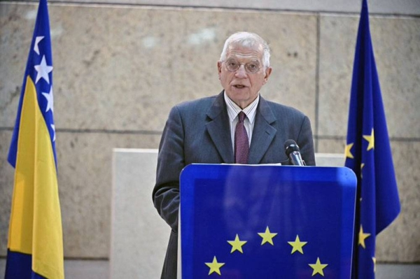 European Union's foreign policy chief Josep Borrell used the 25th anniversary of the peace agreement that ended the Bosnian War to urge Bosnia's political leaders to overcome their persistent ethnic divisions and prepare their nation to join the EU fold.