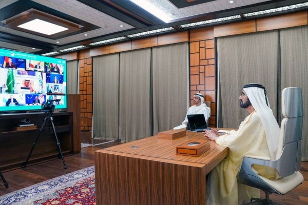 Sheikh Mohammed Bin Rashid Al Maktoum, vice president, prime minister and ruler of Dubai, participated in the concluding session of the G20 Riyadh Summit.