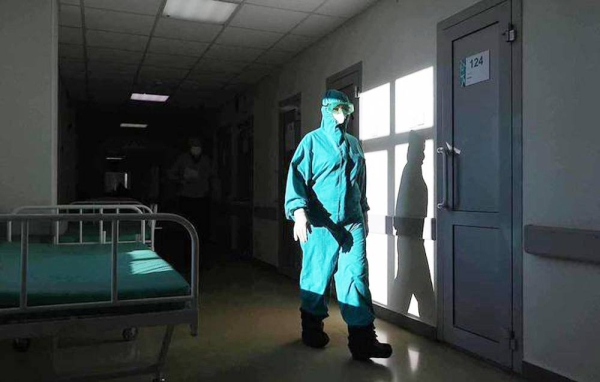 A Russian health worker seen in a hospital ward. — courtesy Tass