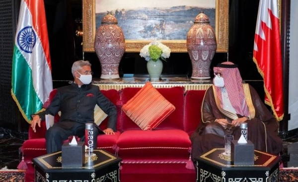 Bahrain's Foreign Minister Dr. Abdullatif bin Rashid Al-Zayani met here on Tuesday with his Indian counterpart Dr. Subrahmanyam Jaishankar, who is on an official visit to the kingdom. — BNA photo