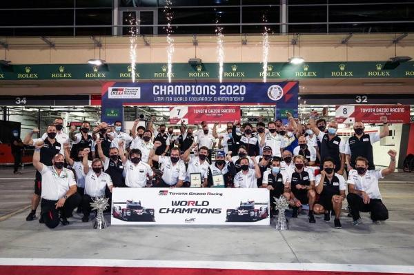 Mike Conway (GBR) Kamui Kobayashi (JPN) and Jose Maria Lopez (ARG)  TOYOTA GAZOO Racing.  World Endurance Championship  8 Hours of Bahrain 11th to 14th November 2020 Bahrain International Circuit, Bahrain
