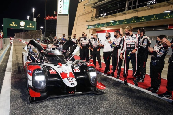 Mike Conway (GBR) Kamui Kobayashi (JPN) and Jose Maria Lopez (ARG)  TOYOTA GAZOO Racing.  World Endurance Championship  8 Hours of Bahrain 11th to 14th November 2020 Bahrain International Circuit, Bahrain