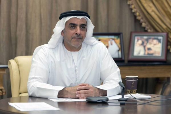 Lt. Gen. Sheikh Saif Bin Zayed Al Nahyan, deputy prime minister and minister of interior, attends the virtual ceremony for Aqdar E-Safe schools initiative launch.