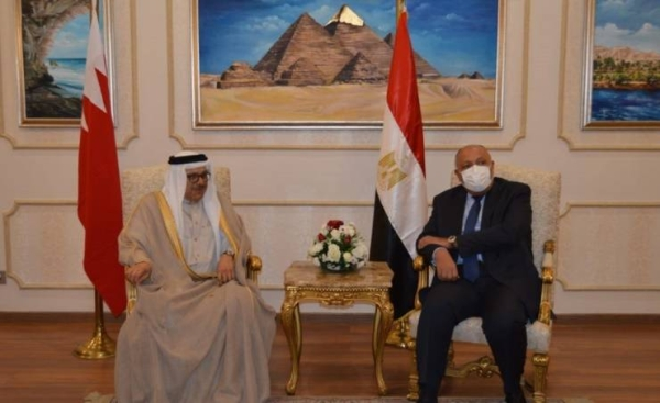 Bahraini Foreign Minister Dr. Abdullatif bin Rashid Al-Zayani met with Deputy Prime Minister of Jordan Ayman Safadi, who is also the country's foreign minister, in Aqaba, Jordan. — BNA photo