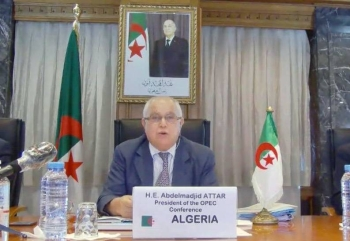 Algeria's Minister of Energy and President of the OPEC Conference Abdelmadjid Attar.