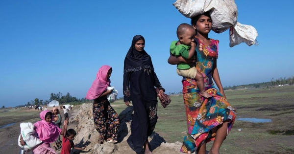 Rohingya refugees flee to Cox's Bazar, Bangladesh. File photo, courtesy UNOCHA/David Dare Parker