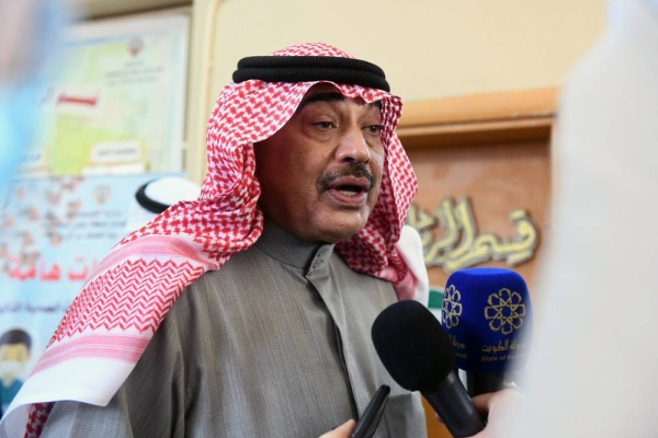 Prime Minister Sheikh Sabah Khaled Al-Hamad Al-Sabah, seen speaking to reporters while visiting Khabab Ibn Al-Arat school in Jabriya, said he was satisfied with medical preparations for Saturday's parliamentary elections, which