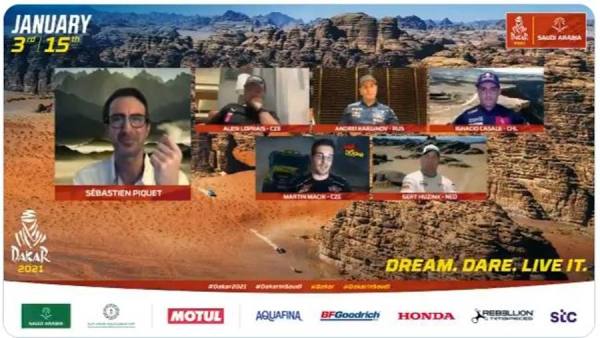The top competitors of the Saudi Dakar Rally 2021 held a