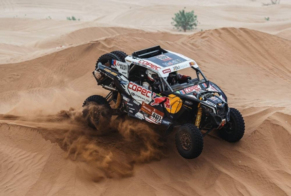 Austin Jones at his Dakar shakedown.