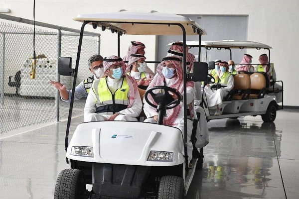 Al-Khorayef made the remarks during his visit to the Aircraft Accessories and Components Co. Ltd. (AACC) under the Saudi Arabian Military Industries Company (SAMI). — SPA photos