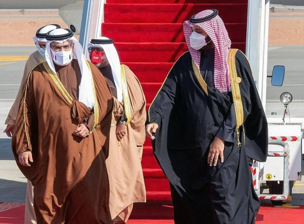 Crown Prince Muhammad Bin Salman, deputy prime minister and minister of defense, welcomes GCC leaders and their accompanying delegation to Saudi Arabia.