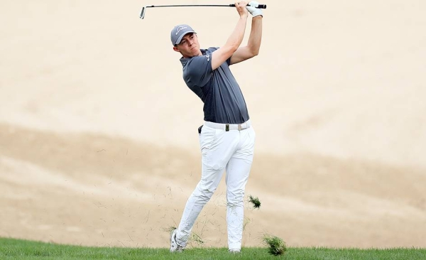 Christiaan Bezuidenhout of South Africa in action ahead of the DP World Tour Championship at Jumeirah Golf Estates on Dec. 8, 2020 in Dubai, United Arab Emirates. — courtesy Francois Nel/Getty Images
