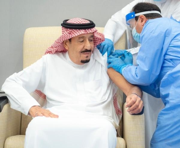 King Salman receives COVID-19 vaccine