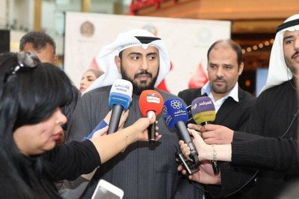 Kuwaiti Health Minister Sheikh Basel Al-Sabah addresses the media in this file picture. — KUNA photo