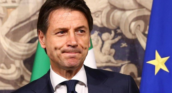 Italy's Prime Minister Guiseppe Conte