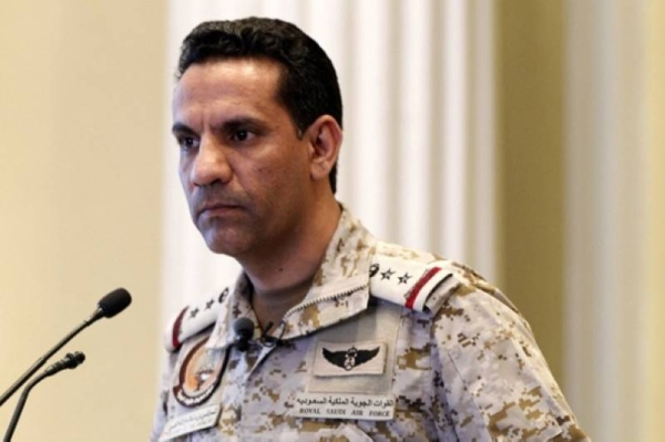 The Arab Coalition forces have intercepted and destroyed three armed drones launched by the Iran-backed Houthi militias, targeting Saudi Arabia, the coalition's spokesperson Brig. Gen. Turki Al-Maliki said on Friday.