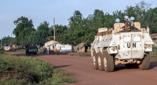 File photo shows MINUSCA peacekeepers on patrol in Bangassou, in southern Central African Republic. — courtesy MINUSCA/Hervé Serefio